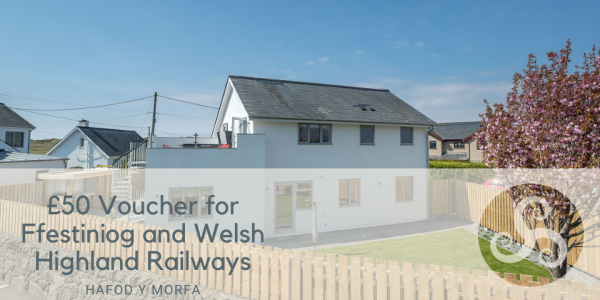 £50 Voucher for Ffestiniog and Welsh Highland Railways at Luxury Holiday Getaway With Hot Tub
