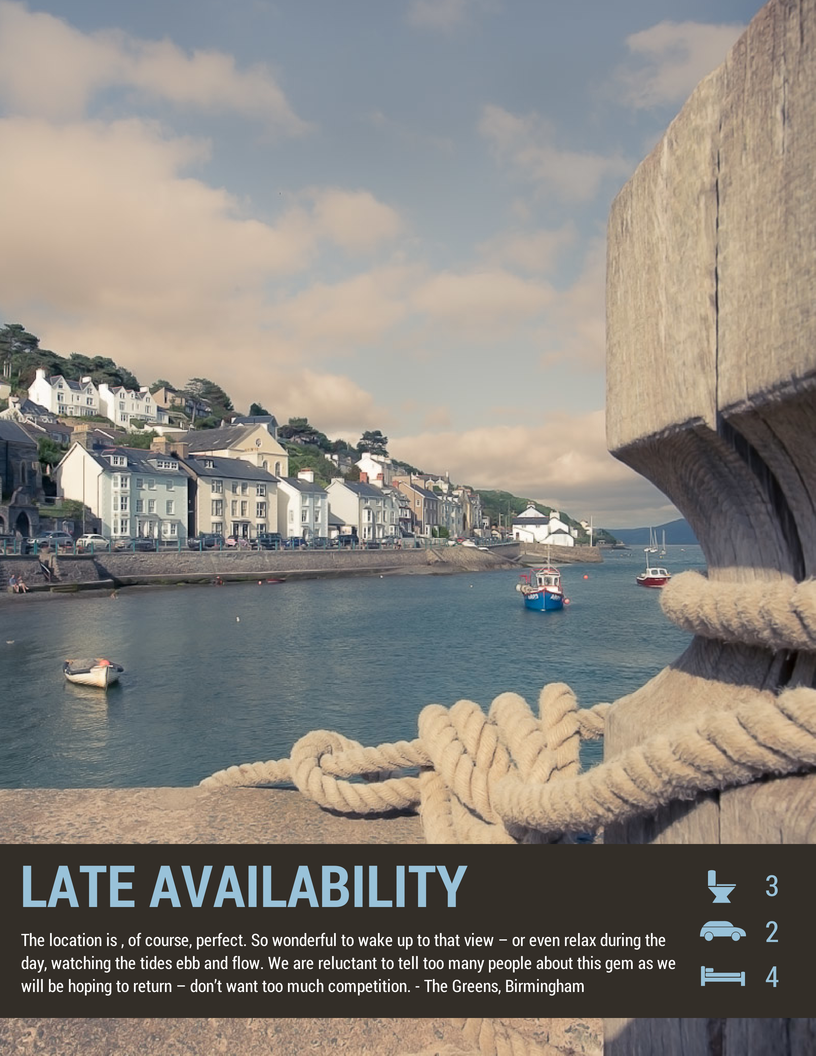 Aberdovey Self Catering Late Availability