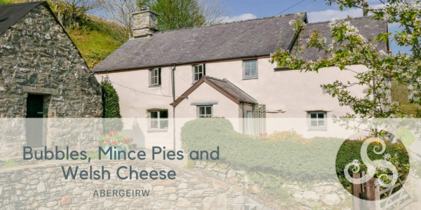 Bubbles, Mince Pies and Welsh Cheese at Remote Mountain Holiday Cottage