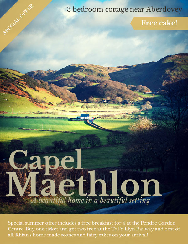 Capel-Maethlon Summer Offer