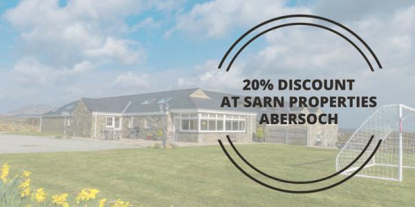 20% DISCOUNT AT SARN PROPERTIES