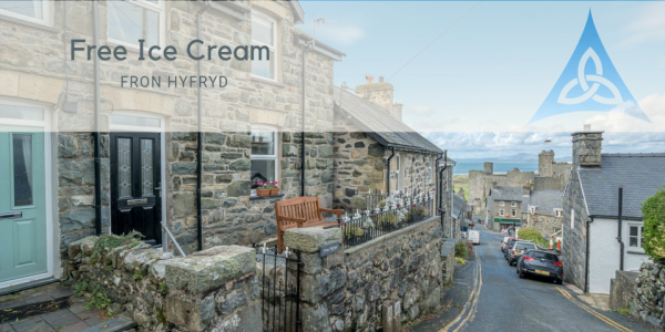 Free Ice Cream at Harlech Holiday Cottage with Sea Views