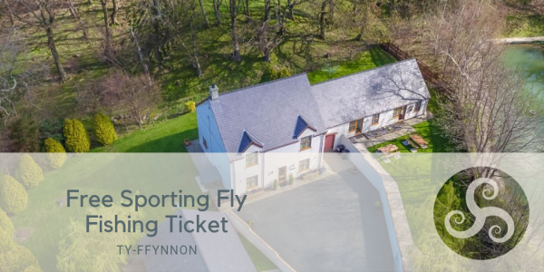 Free Sporting Fly Fishing Ticket at Four Bedroom Holiday Cottage With Hot Tub Near Conwy
