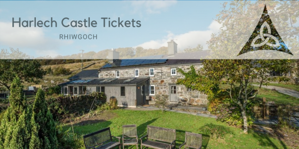 Harlech Castle Tickets at Cottage with Hot Tub, Mountain Views And A Steam Train Running Through The Garden!