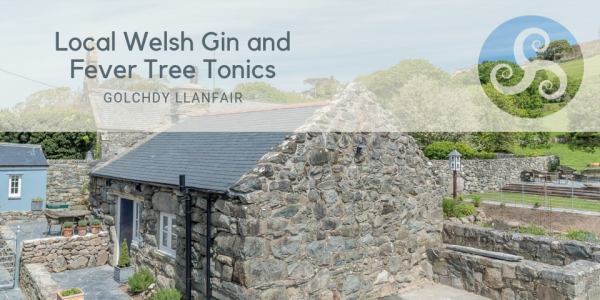 Bottle of Local Welsh Gin and Fever Tree Tonics at Holiday Cottage Near Beach