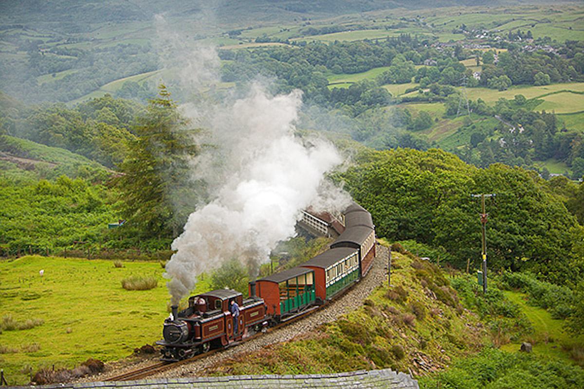 Narrow gauge steam train on your doorstep
