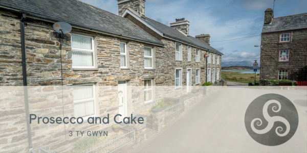 Prosecco and Cake at Cottage within Morfa Harlech Nature Reserve