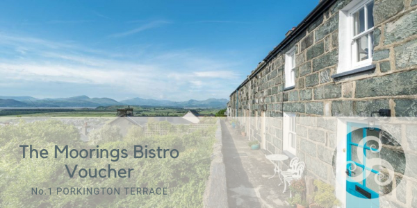 The Moorings Bistro Voucher at Four Bedroom Holiday Cottage in Harlech