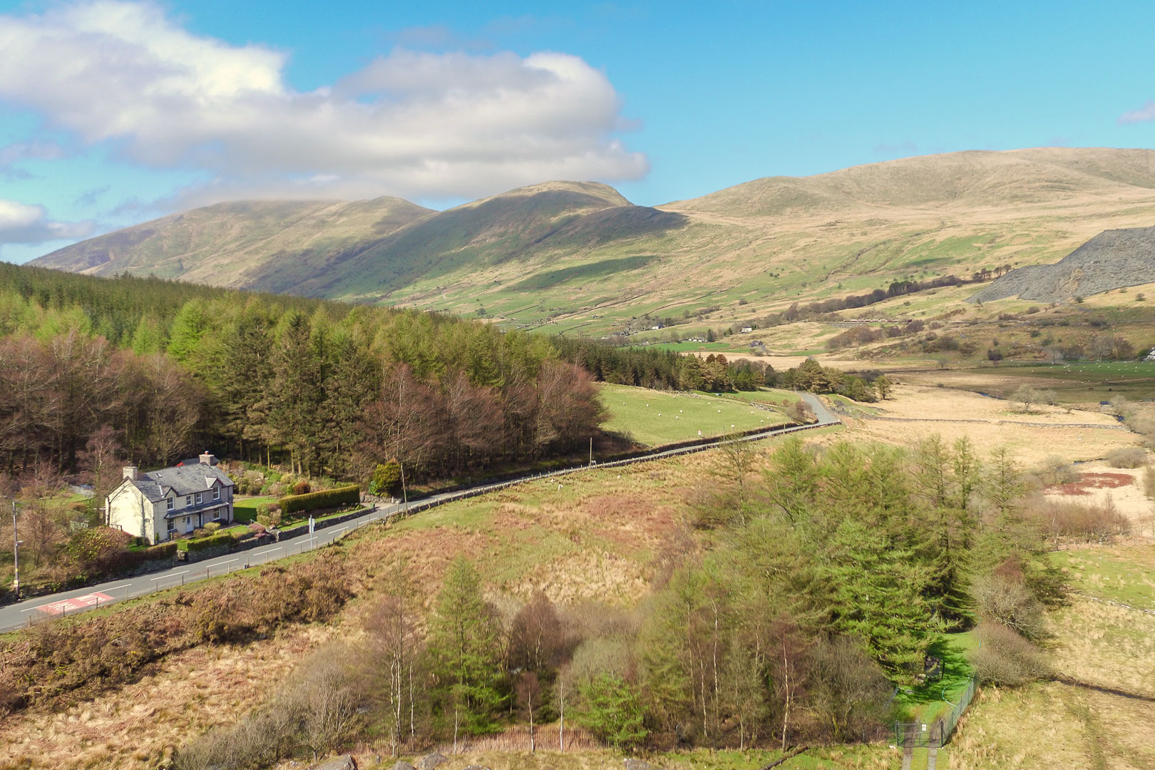 Views over Snowdon and the Welsh Highland Railway