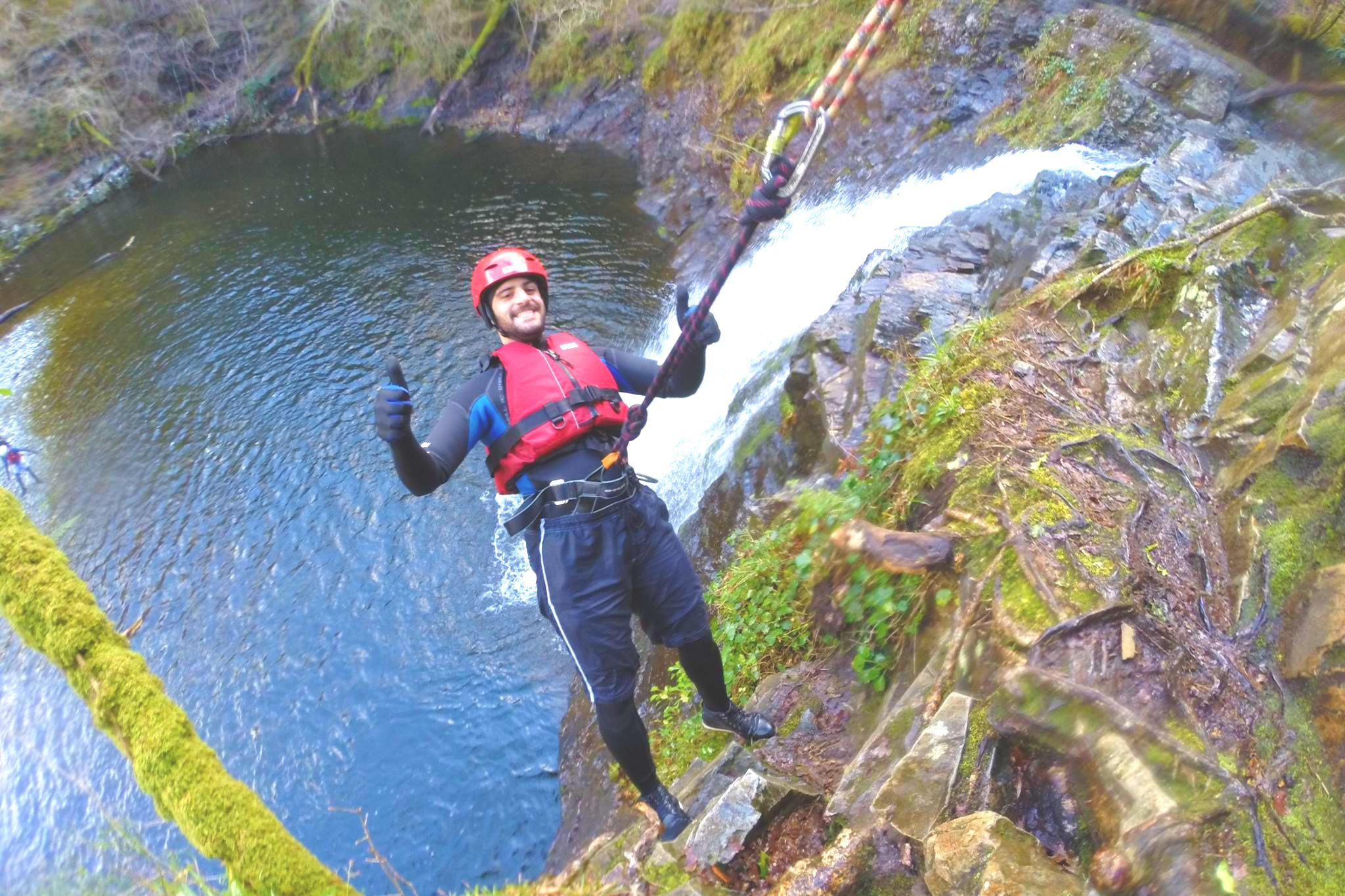 Snowdonia Style adventure   Canyoning