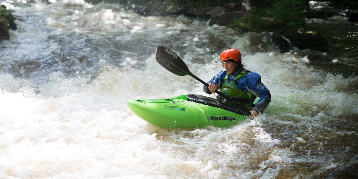 Kayaking on the Tryweryn River