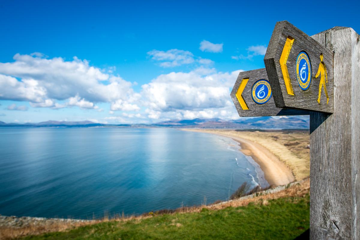 Wales Coastal Path at Harlech Beach